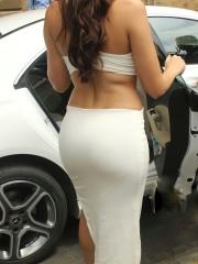 Actress Nora Fatehi Sizzling White Dress 16