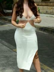 Actress Nora Fatehi Sizzling White Dress 3