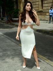 Actress Nora Fatehi Sizzling White Dress 6