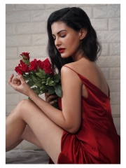 Amyra Dastur Sultry Poses In Shiny Dress 11