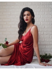 Amyra Dastur Sultry Poses In Shiny Dress 12