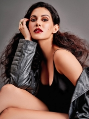 Amyra Dastur Sultry Poses In Shiny Dress 7