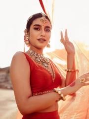 Priya Prakash Varrier in a Red Dress 1
