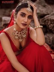 Priya Prakash Varrier in a Red Dress 7