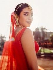 Priya Prakash Varrier in a Red Dress 2