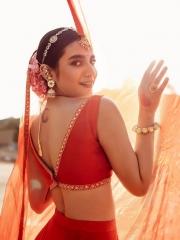 Priya Prakash Varrier in a Red Dress 3