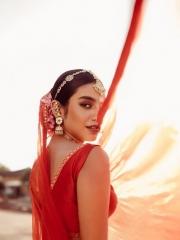 Priya Prakash Varrier in a Red Dress 4