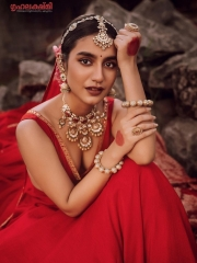 Priya Prakash Varrier in a Red Dress 6